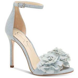 Jessica Simpson Jeena Flower Pom-Pom Sandal Heels